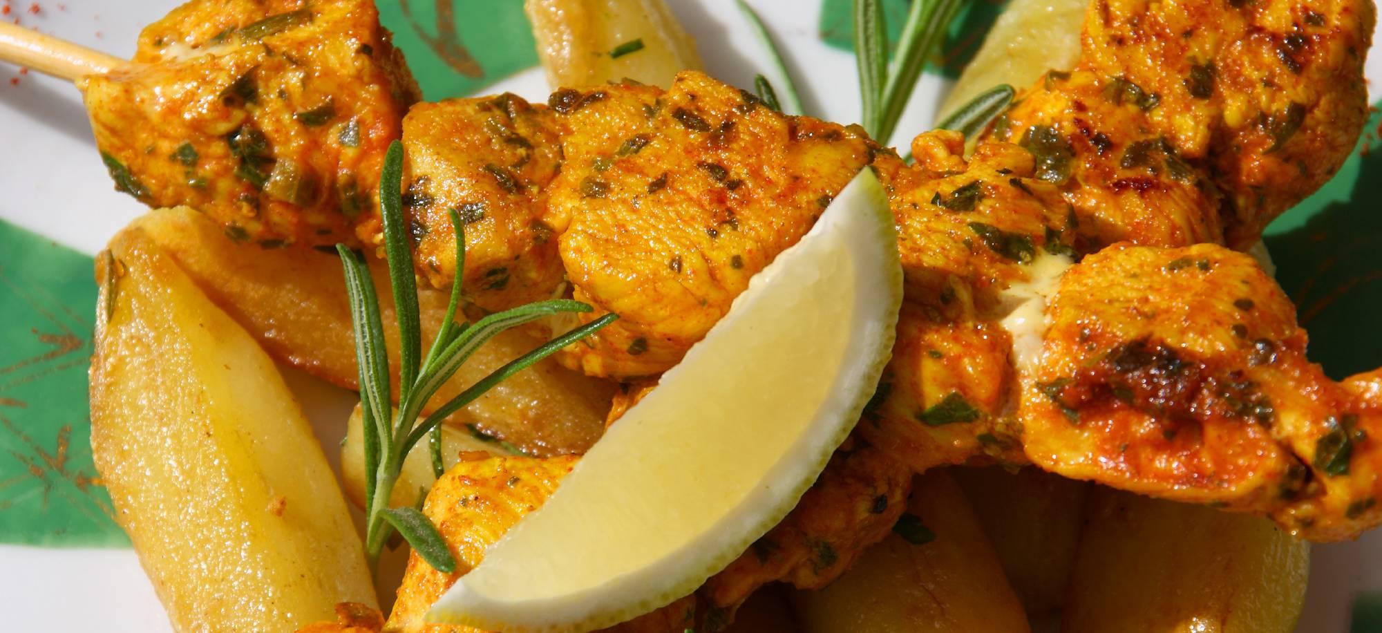 Brochettes de poulet à la marocaine