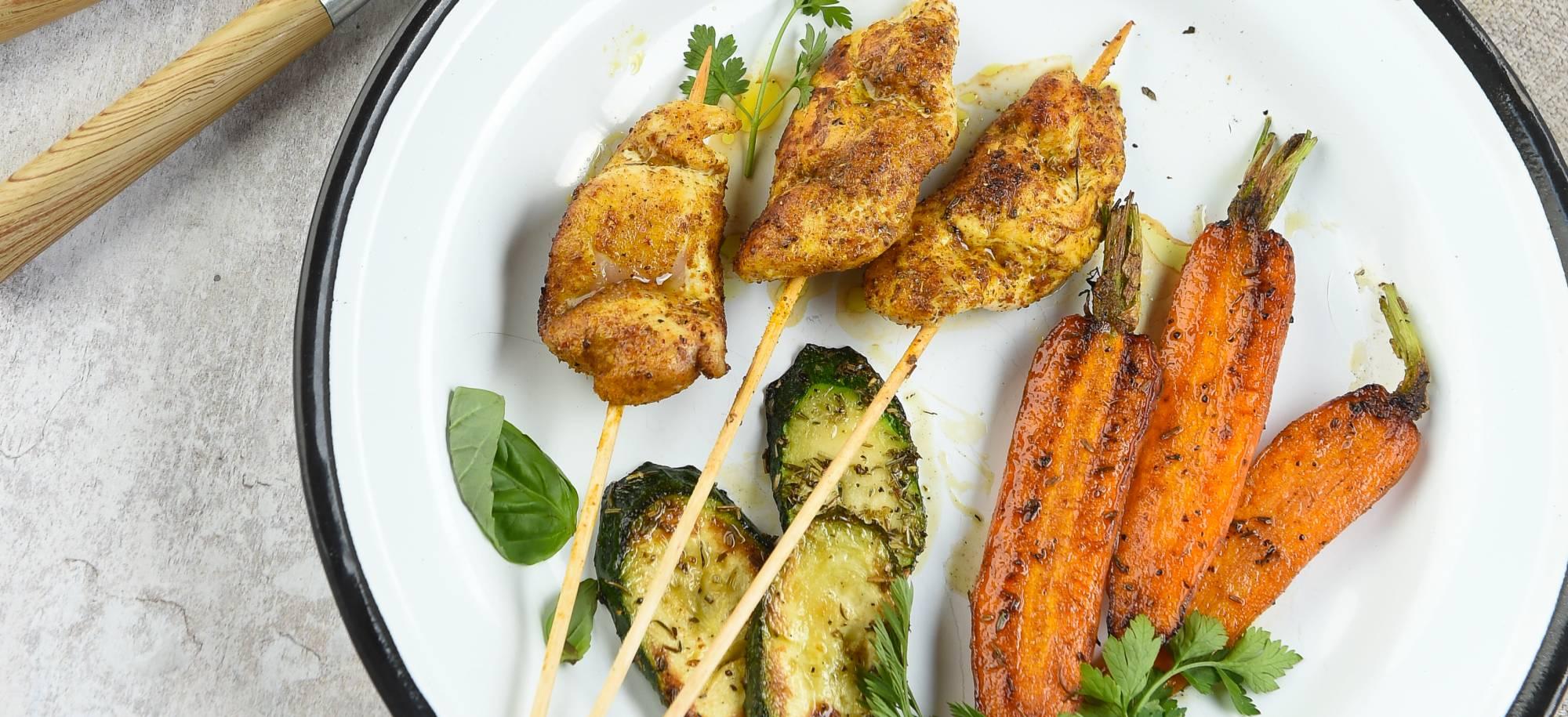 recettes brochettes, brochettes poulet,