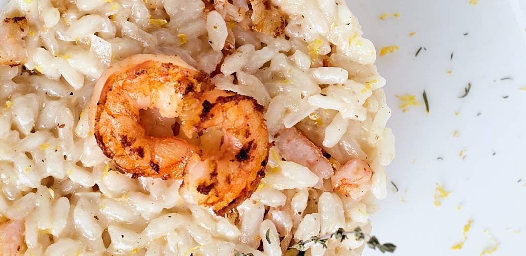 recette fêtes noël risotto gambas champignons