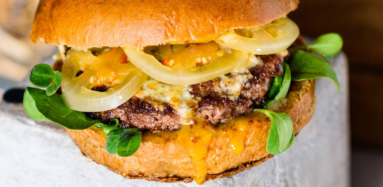 Maxi burger au bleu