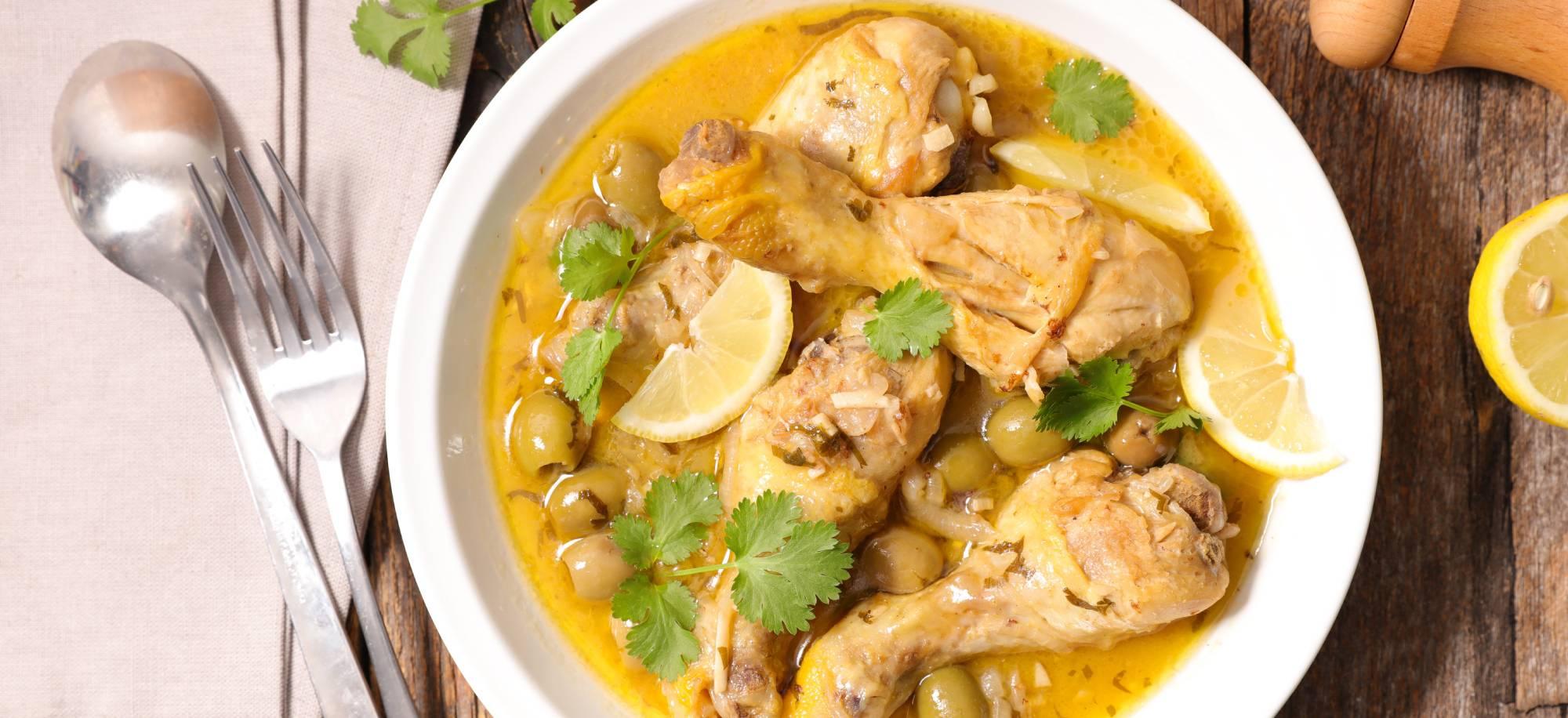 Poulet citrons et olives