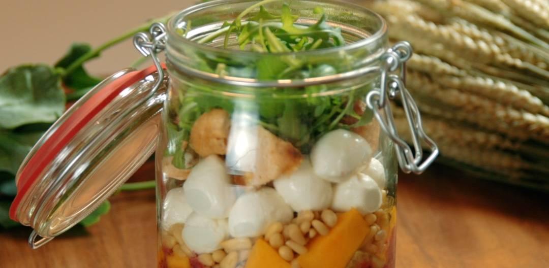 Recette de salade en bocal