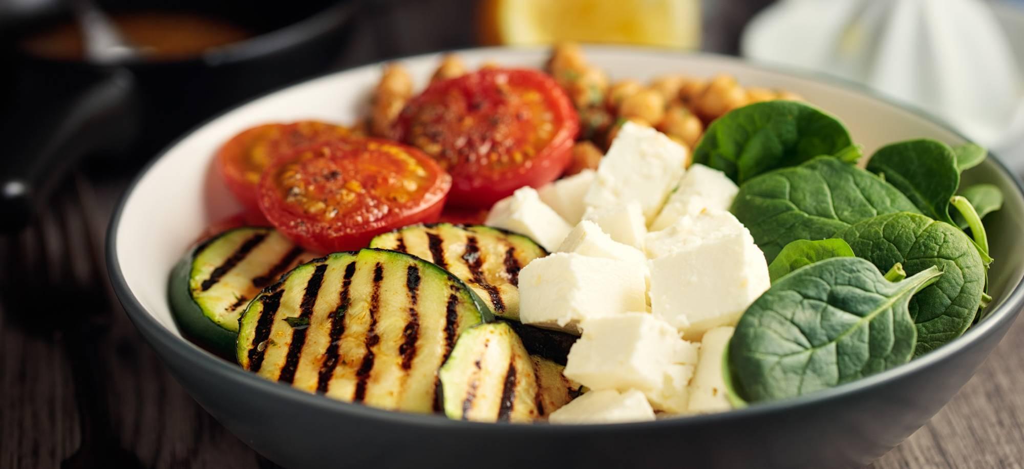 Salade courgette mozzarella