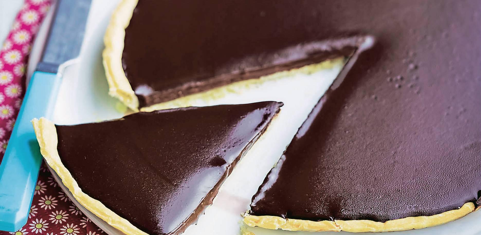 Tarte au chocolat glacé