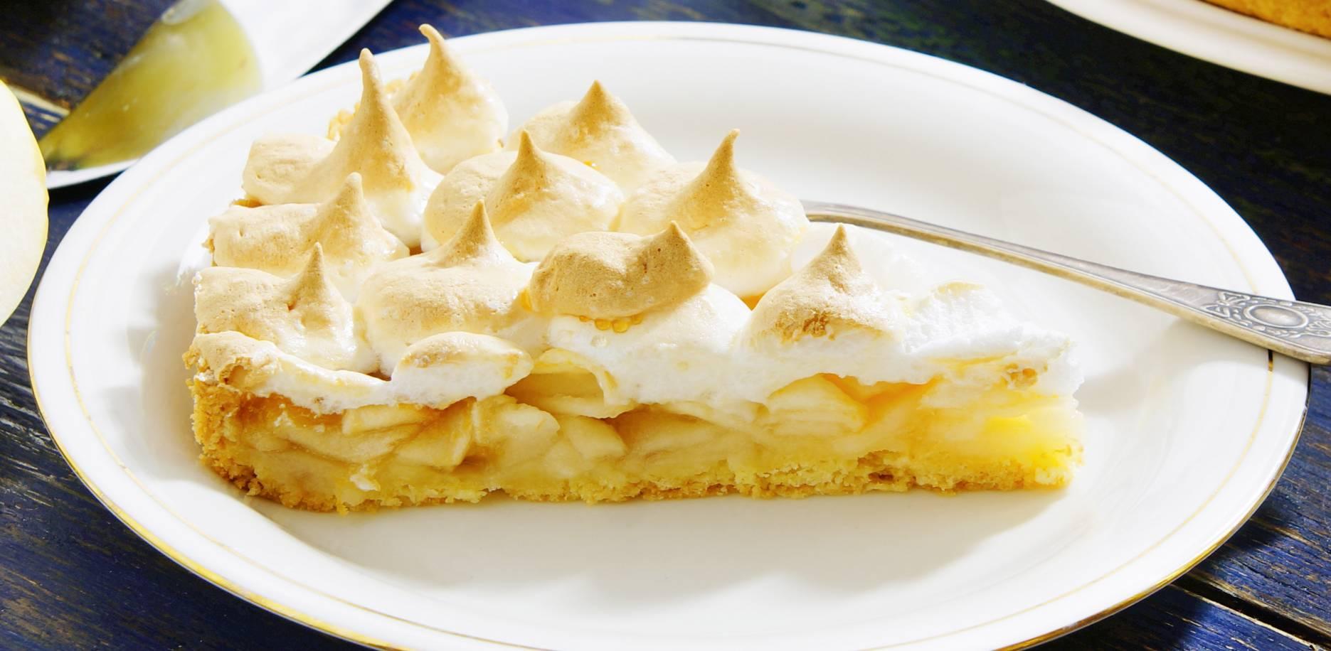 Recette de tarte meringuée aux pommes