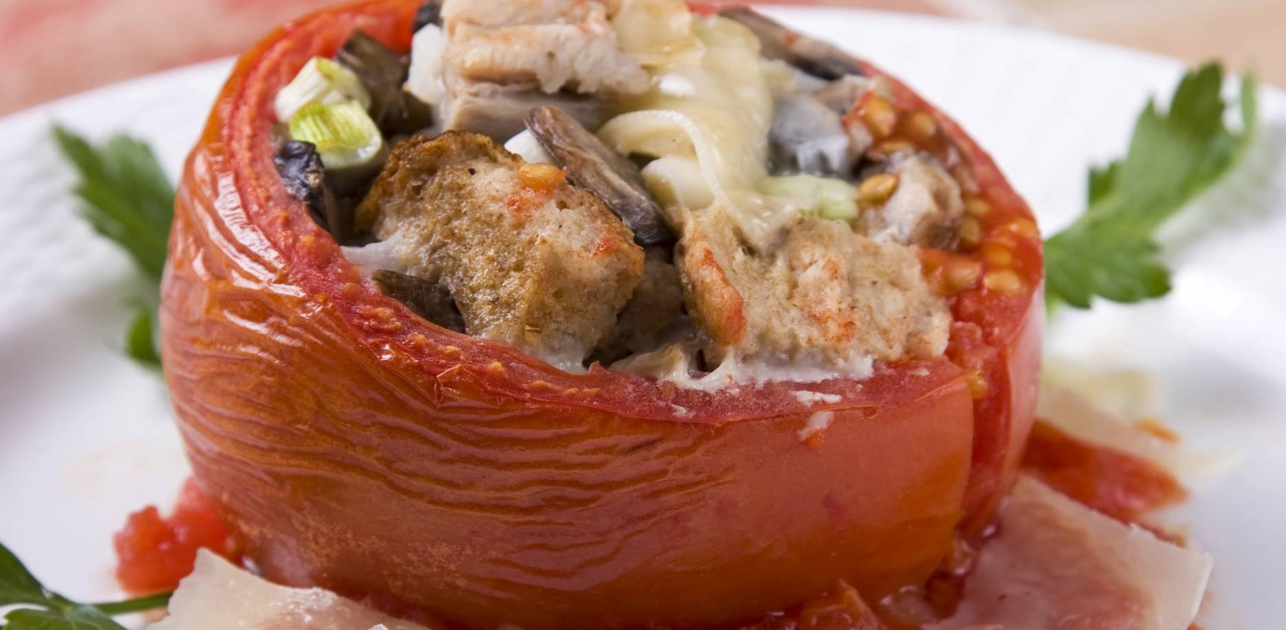 Recette de tomates farcies au chèvre chaud