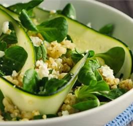 Mes Recettes facile image boulgour courgette facile diététique healthy recette végétarienne
