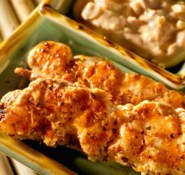 Recette de brochettes au poulet et beurre de cacahuète