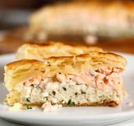 Feuilleté au fromage et saumon
