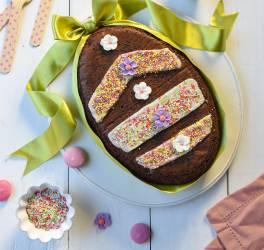 Gâteau œuf de Pâques au chocolat