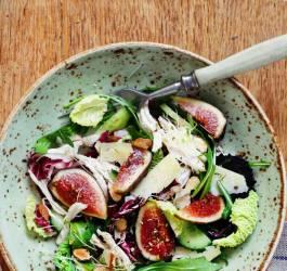 salade de jambon cru, artichaut et figues recette facile express rapide diététique mes recettes Mes Recettes