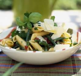 Salade de penne et haricots verts
