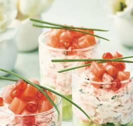image Mes Recettes verrines de concombre crème de saumon fumé échalotte facile rapide express